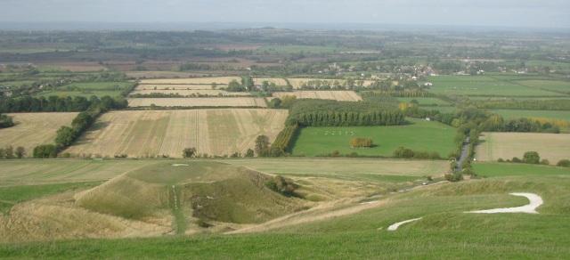 Dragon Hill and the Uffington Chalk Horse, Oxfordshire