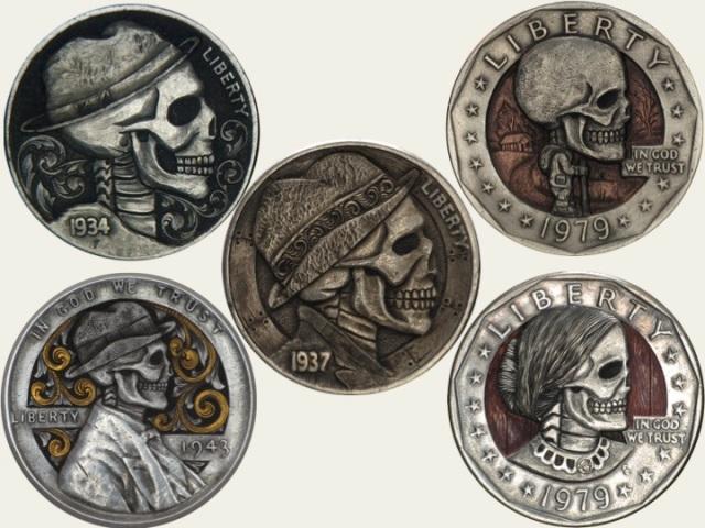 Mrthe's modern hobo nickels