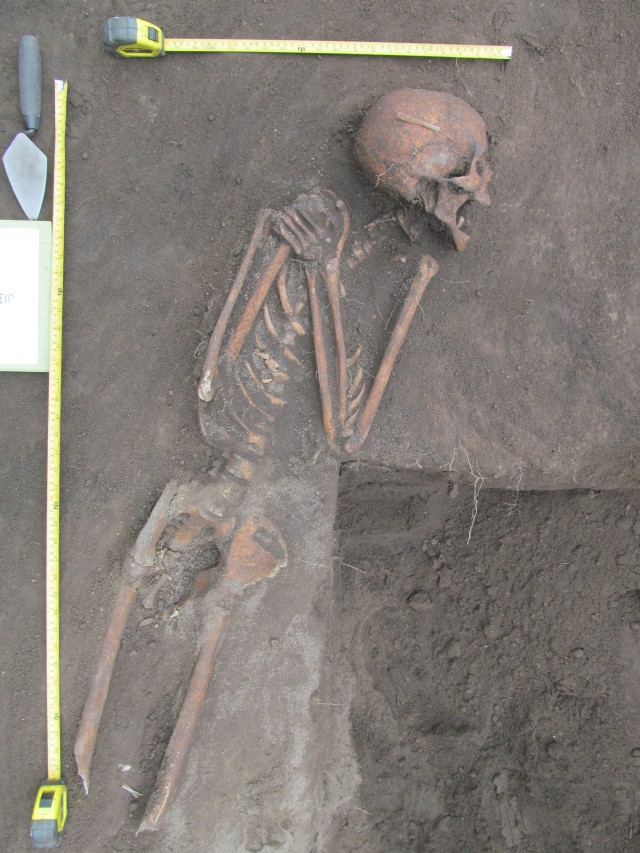 Figure 1. Midden burial from Old Ainsen