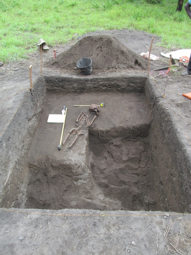 Figure 6. Full extent of midden excavation