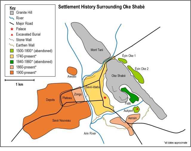 Map of Settlement History Surrounding Oke Shabe
