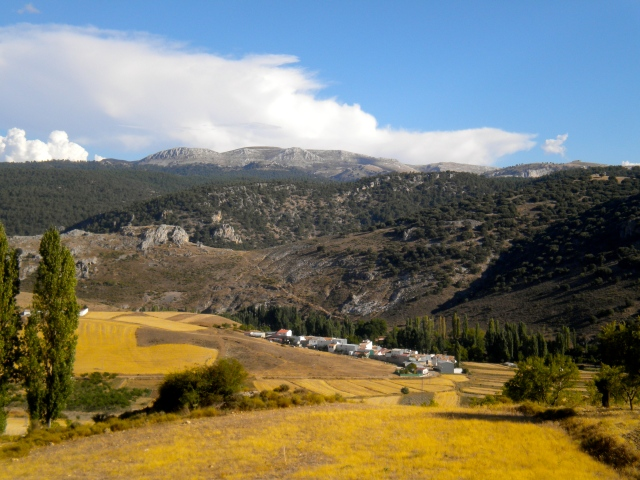 View on the road between Las Quebradas and Los Atascaderos
