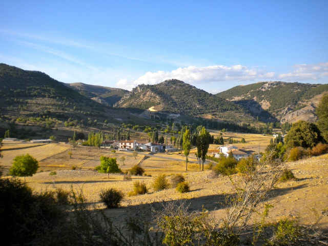 View of the valley from Los Teatinos
