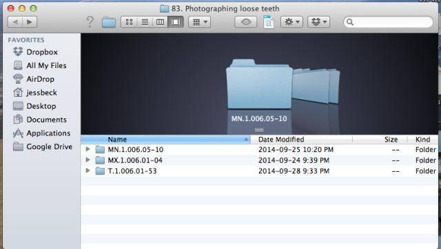 Folder oragnization
