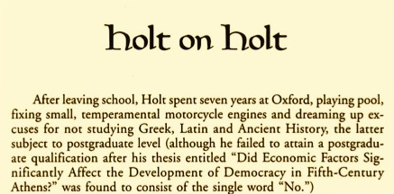 Tom Holt author bio