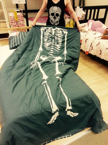 Ikea bedspread with t-shirt