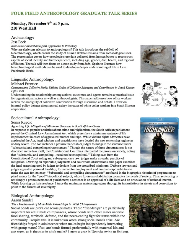 FOUR FIELD ANTHROPOLOGY GRADUATE TALK SERIES copy