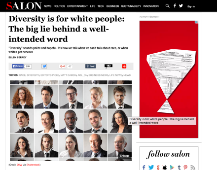 Salon – Diversity is for white people