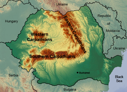 The Apuseni mountains are part of the Western Carpathian range.